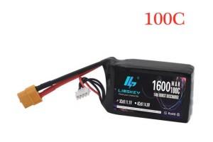 Аккумулятор 11,1 В 1600 мАч 100C  3S LiPo