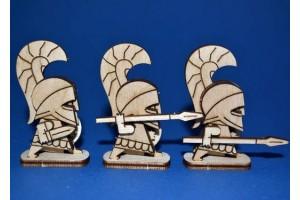 Конструктор деревянный  Афиняне. Пехота