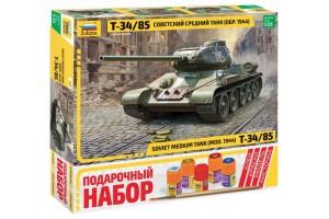 Звезда 3687pd Советский средний танк Т-34 85
