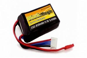 Аккумулятор Black Magic 11.1V 850mAh 25C LiPo JST-