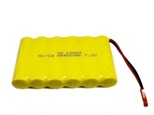 Аккумулятор Ni-Cd 400mAh, 7.2V, JST