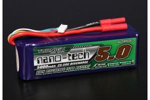 Батарея Turnigy nano-tech 5000mah 6S 25~50C Lipo