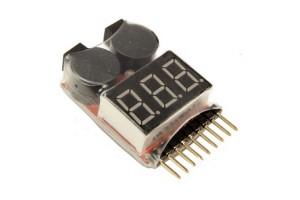 Индикатор напряжения 1-8S LiPo батареи