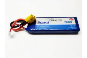 Аккумулятор Li-Po Spard 2600mAh, 7,4V, 25C, XT60