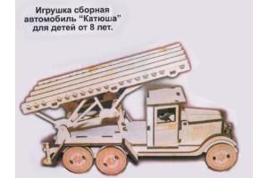 Конструктор деревянный автомобильКатюша