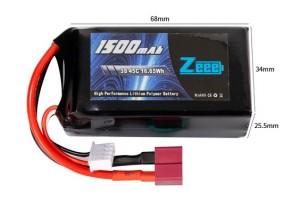 Аккумулятор Zeee Power 3s 11.1v 1500mah 45c SOFT